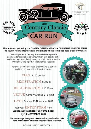 2017 3rd Centuary Classic Car run Poster