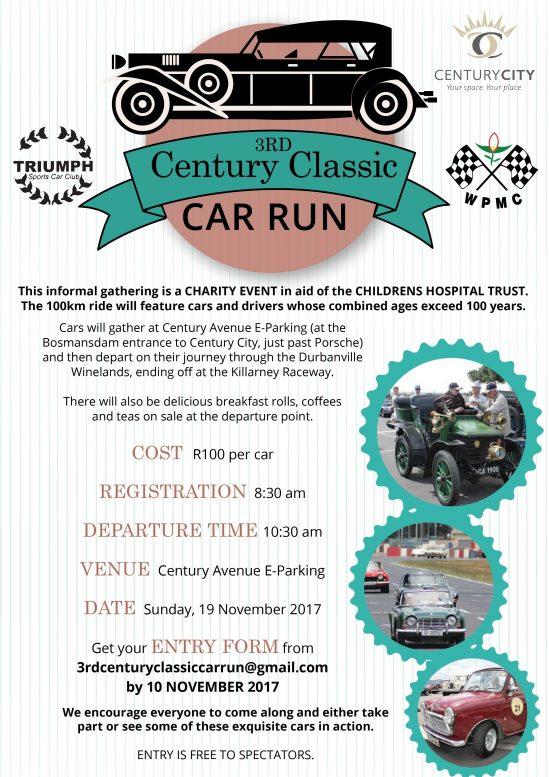 2017 3rd Centuary Classic Car run Poster