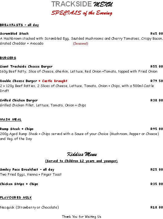 EMAIL TRACKSIDE EVENING SPECIALS MENU 23Jul2018
