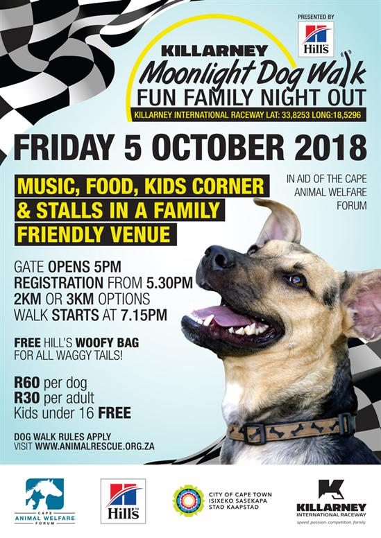 Moonlight Dog Walk OCT 2018 poster