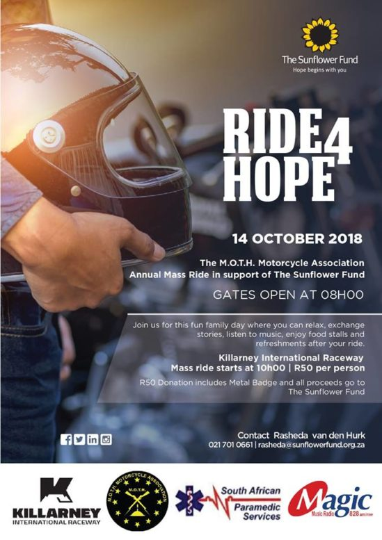 Ride for Hope 2018 poster
