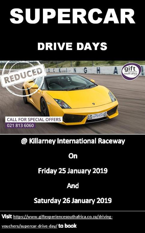 supercar drive days 25&26Jan2019 poster special offer ver1