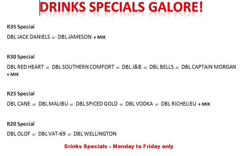 DRINKS SPECIALS GALORE Jan 2019