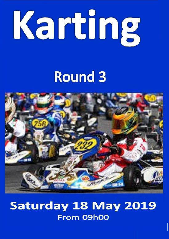 Karting Poster Rnd 3 18 May 2019