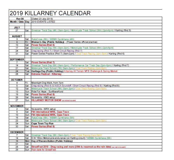 2019 Killarney Calendar_ Rev05_2019