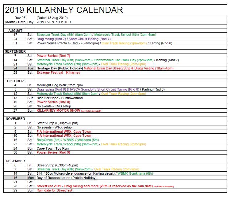 2019 Killarney Calendar_ Rev 06