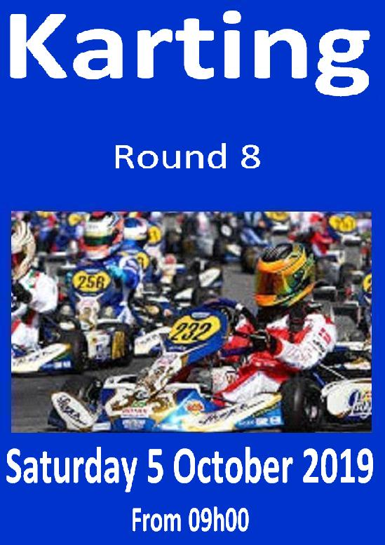 Karting Poster Rnd 8 5Oct2019